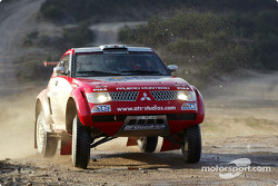 Mitsubishi Pajero Evolution-Montero Evolution, Team ATS Mitsubishi Ralliart: Stéphane Peterhansel and Jean-Paul Cottret
