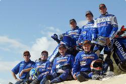 Team Gauloises KTM presentation: Jean Brucy, Fabrizio Meoni, Cyril Despres, Alfie Cox, Richard Sainct and Giovanni Sala