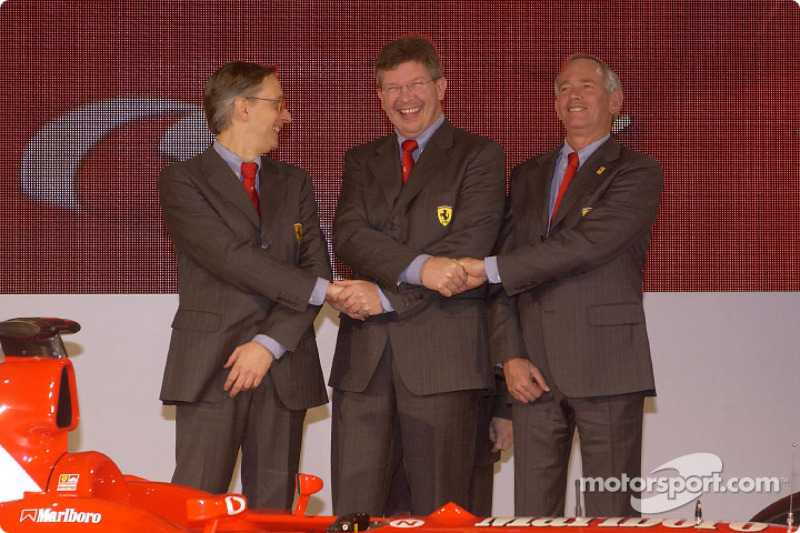 Paolo Martinelli, Rory Byrne and Ross Brawn
