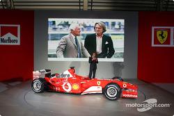 Luca di Montezemelo with the new Ferrari F2003-GA