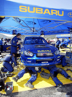 Subaru World Rally Team service area in Kemer