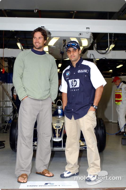 Juan Pablo Montoya with Pat Rafter