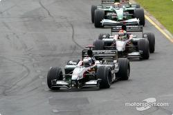 Jos Verstappen leads Justin Wilson