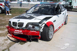 Boris Said never reached the track after being involved in an accident at the end of pit lane when a Honda driven by Bob Endicott turned across pit out and directly into the path of Said's accelerating M3