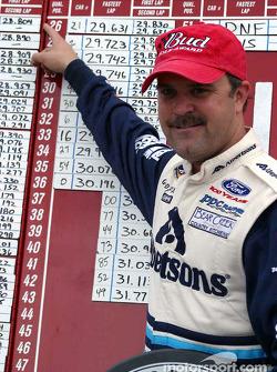 El ganador de la pole Jason Keller