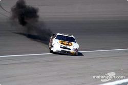 Dale Jarrett refires the engine