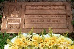 Ayrton Senna Da Silva grave at Morumbi cemetery