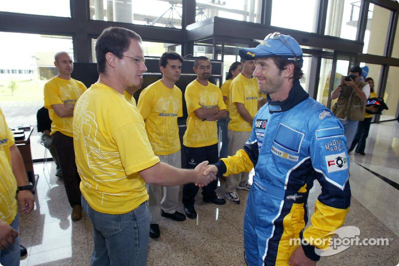 Visit of the Ayrton Senna Renault Factory in Curitiba: Jarno Trulli