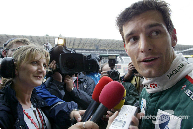 Interview with provisional pole position holder Mark Webber