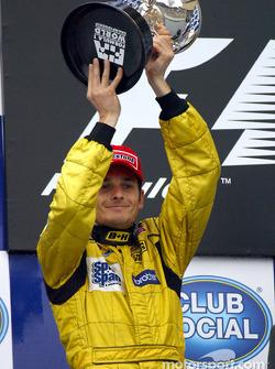 The podium: Giancarlo Fisichella
