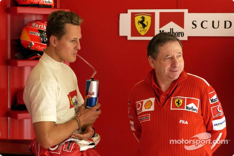 2003 San Marino GP, Ferrari F2002 (pictured here with Jean Todt)