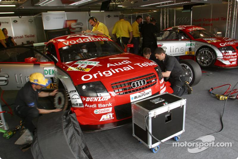 S line Audi Junior Team pit area
