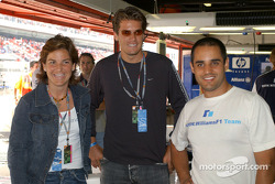Arantxa Sanchez, German tennis player Tommy Haas and Juan Pablo Montoya