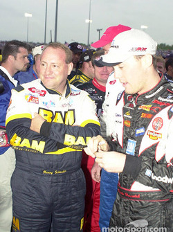 Ken Schrader and Kevin Harvick