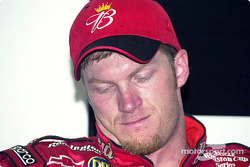 Dale Earnhardt Jr. napped during a very long question