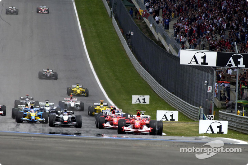 start: Michael Schumacher takes lead