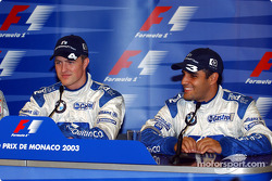 Press conference: pole winner Ralf Schumacher with Juan Pablo Montoya