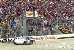 Ryan Newman takes the checkers