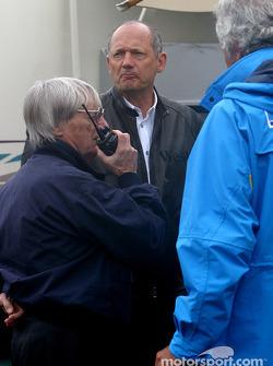 Bernie Ecclestone, Ron Dennis and Flavio Briatore