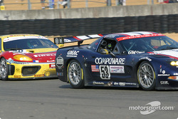 #53 Corvette Racing Gary Pratt Corvette-Chevrolet C5: Ron Fellows, Johnny O'Connell, Franck Freon, and #70 JMB Racing Ferrari 360 Modena: David Terrien, Fabrizio de Simone, Fabio Babini