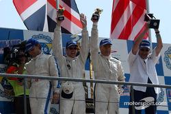 Podium: LMP675 winners Jean-Luc Maury-Laribière, Didier André, Christophe Pillon