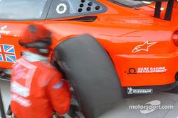 Pitstop practice at Veloqx Prodrive Racing