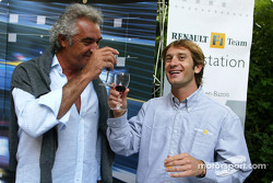 Renault F1 wine tasting evening: Flavio Briatore and Jarno Trulli