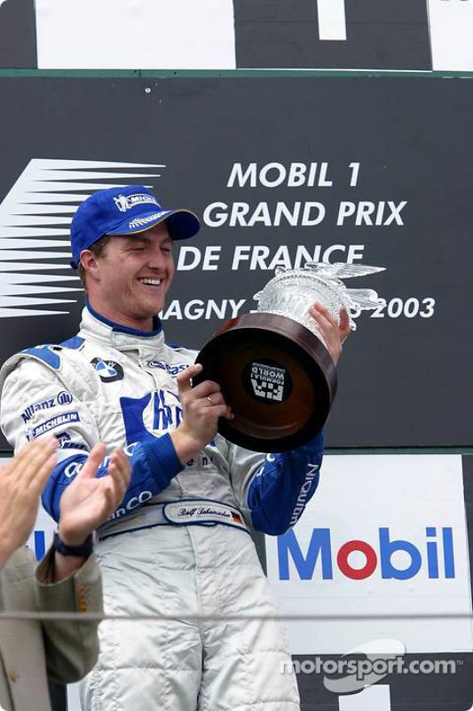 Le podium: le vainqueur Ralf Schumacher