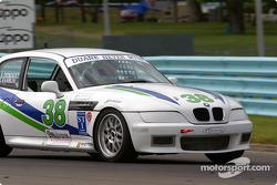 la BMW 328 n°38 de l'équipe Duane Neyer Motorsports pilotée par Jim Hamblin, Stewart Tetreault, John Moore
