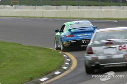 #41 Planet Earth Motorsports Porsche 911: Joe Nonnamaker, Wayne Nonnamaker, and #04 Istook/Aines Motorsport Group Audi S4: Don Istook, Paul Zube