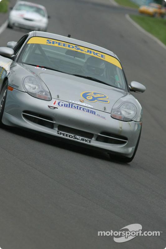 la Porsche 911 n°62 de l'équipe SpeedSource pilotée par Sylvain Tremblay, Scott Schlesinger, Marcelo Abello
