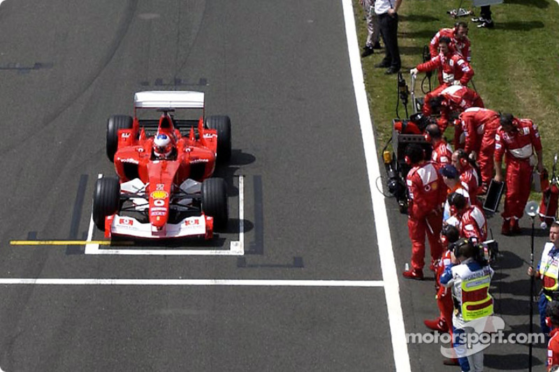The starting grid: Rubens Barrichello