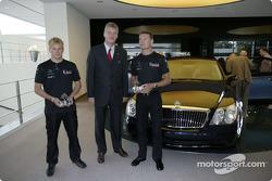 Kimi Raikkonen and David Coulthard visit Maybach Centre of Excellence in Sindelfingen