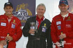 GT podium: best private team for #35 Risi Competizione Ferrari 360 Modena of Anthony Lazzaro, Ralf Kelleners