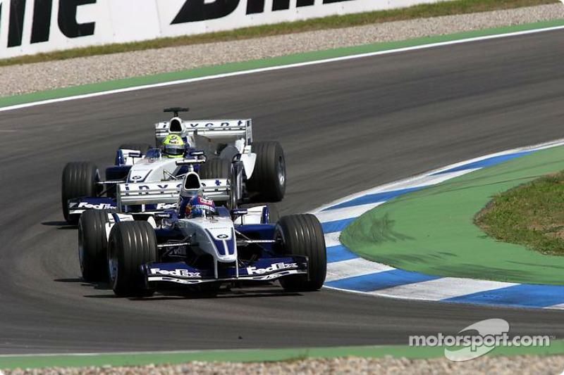 Tour de lancement: Juan Pablo Montoya et Ralf Schumacher