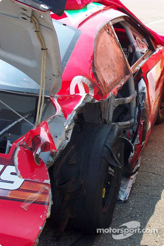 L'accident de Jeremy Mayfield en essais libres