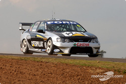 Craig Lowndes across the top during qualifying