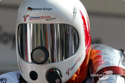 Toyota team member ready for pitstop practice