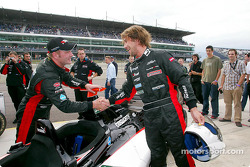 Race winners Jos Verstappen and singer Jay Kay