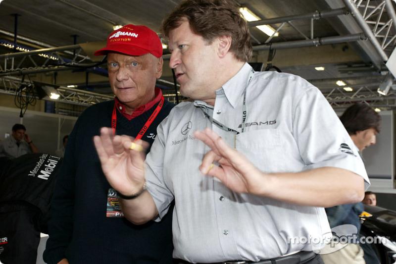 Niki Lauda and Norbert Haug