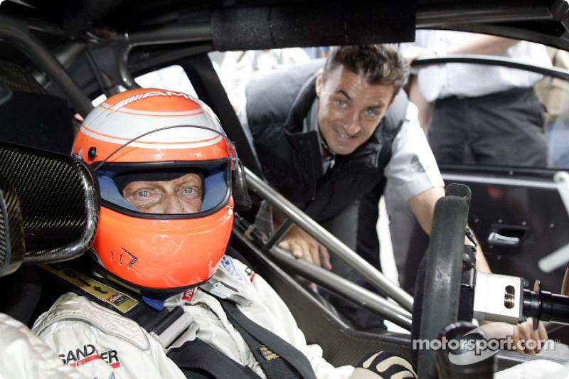 Niki Lauda and Jean Alesi