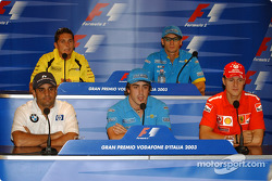 Thursday FIA press conference: Juan Pablo Montoya, Fernando Alonso, Michael Schumacher, Giancarlo Fisichella and Jarno Trulli
