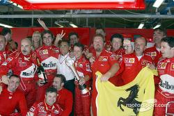 Team Ferrari celebrates