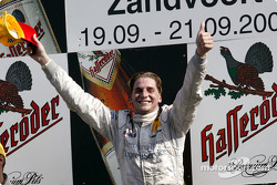 Podium: race winner Christijan Albers