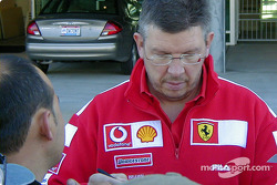 Ross Brawn signs autographs