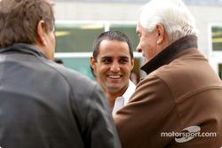 Norbert Haug, Juan Pablo Montoya and Roger Penske