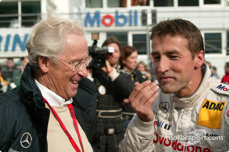 Prof. Jürgen Hubbert and Bernd Schneider on the starting grid