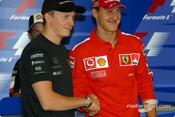 Thursday FIA press conference: World Championship contenders Kimi Raikkonen and Michael Schumacher