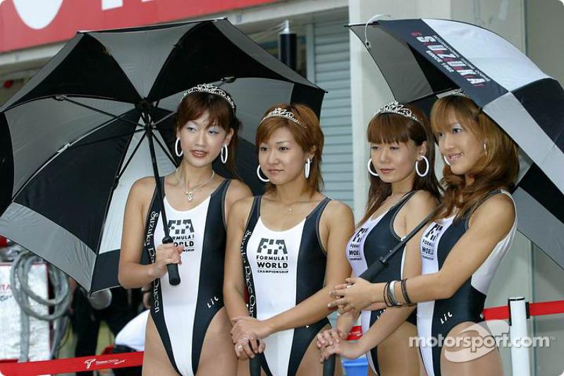 Chicas de la parrilla del GP japonés