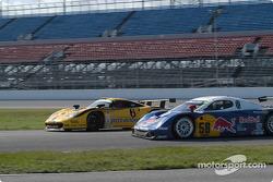 #58 Brumos Racing Porsche Fabcar: David Donohue, Mike Borkowski, and #6 Gunnar Racing Porsche Gunnar GT1: Milt Minter, Chad McQueen, Gunnar Jeannette